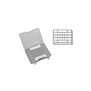4C-4783: Cajas de servicio general divididas de plástico con tapas con bisagras