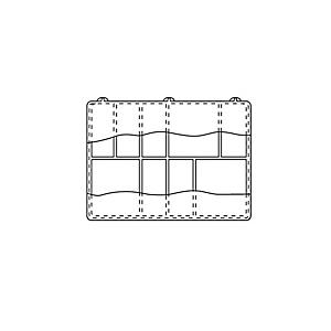 4C-3725: Caixas de Utilidade Divididas de Plástico com Tampas Articuladas