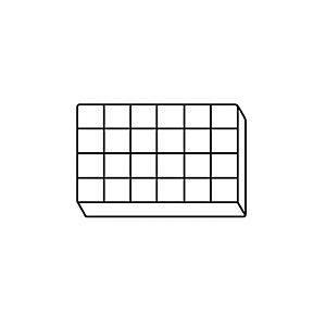 4C-3724: Caixas de Utilidade Divididas de Plástico com Tampas Articuladas
