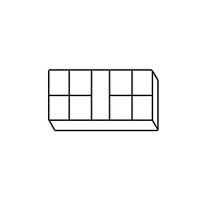 4C-4787: Utility Box (9 compartment, plastic)