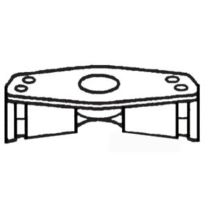 9U-7155: Protetores Aparafusados de Flange de Código de SAE 61