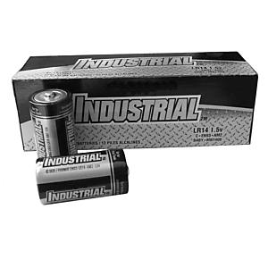 1U-9533: AA Alkaline Battery , non-rechargeable, package qty 96 (5 required to power Indicator III)