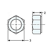 5C-7261: Hex Head Nut