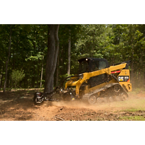 Cat® 297D2 and SG18B Stump Grinder at Work
