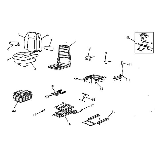 108-2192: Seat Assembly (Suspension)
