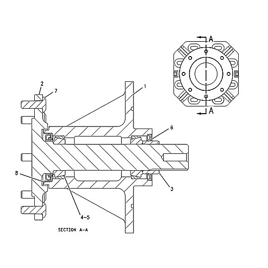 142-8758: Axle Assembly