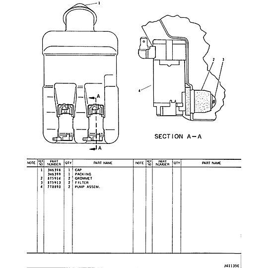 8R-1774: Washer Bottle Assembly