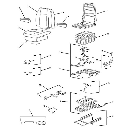 143-1312: Seat Assembly (Suspension)