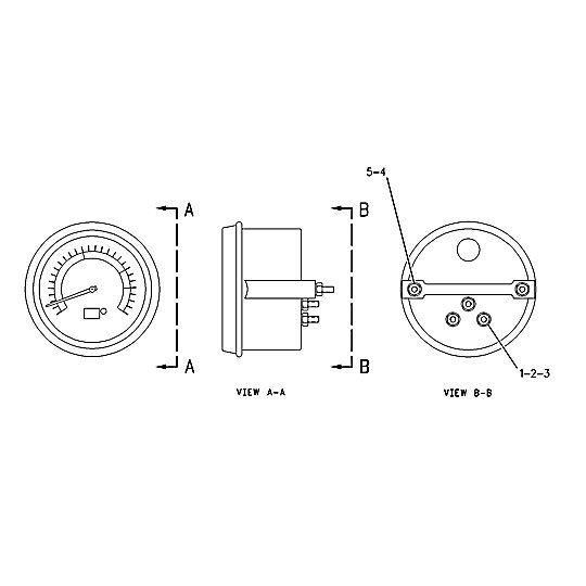 8C-5471: Tachometer Assembly-Electric