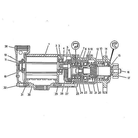 7W-6569: Air Starting Motor