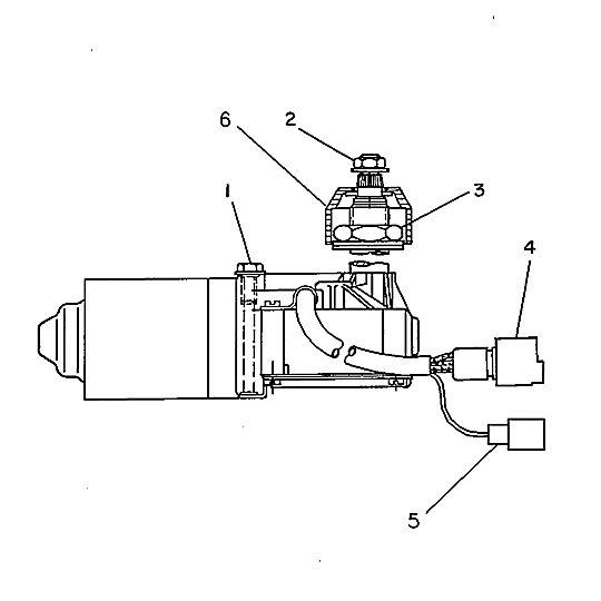 7X-1751: Wiper Motor Assembly