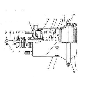 8W-8357: Conjunto de accionador - Freno