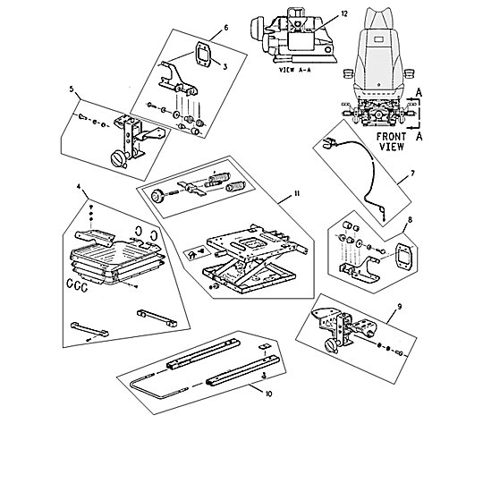 124-3926: Suspension Assembly-Seat