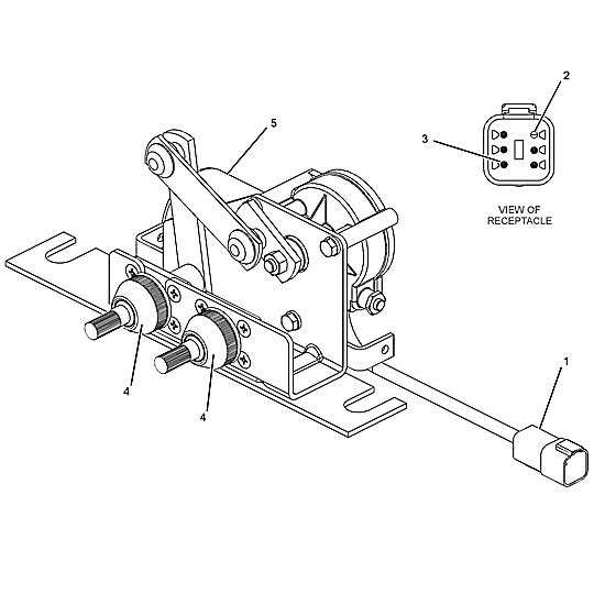 190-3445: Wiper Motor Assembly
