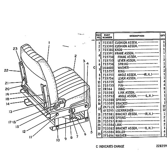 5S-0045: Seat Assembly (Adjustable)