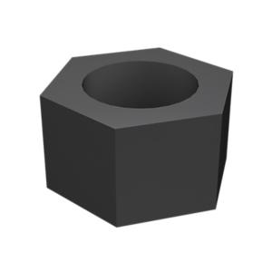 8T-4244: 8T-4244, 육각 너트, 아연 도금