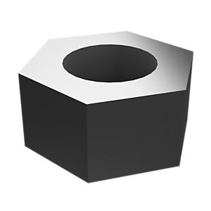 5C-2890: Tuercas hexagonales con revestimiento de zinc