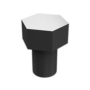 8T-9371: Pernos de cabeza hexagonal con revestimiento de zinc
