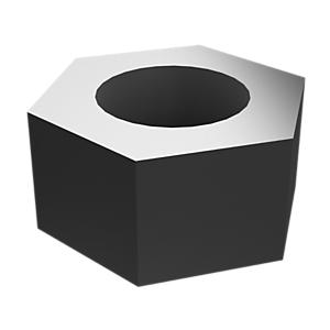 5C-7261: 六角头螺母,镀锌