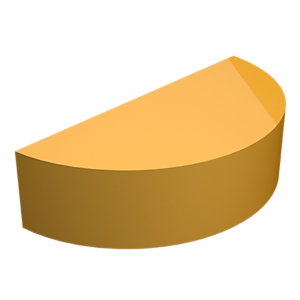 1B-8735: Chaveta Semicircular (Woodruff), 1/8 pol