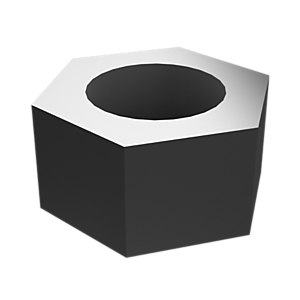8C-8722: 六角螺母,锌薄片