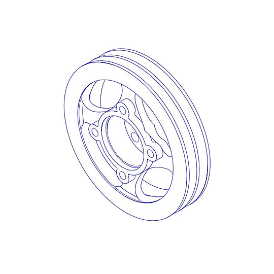 359-0746: Pulley-Crankshaft