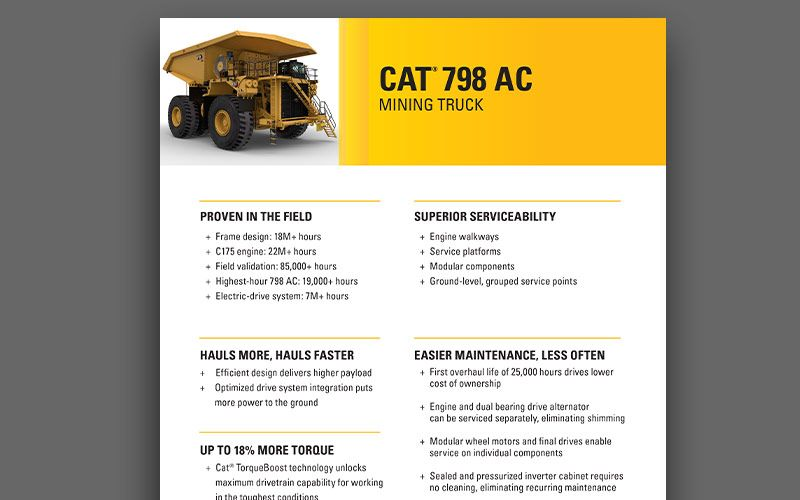 798 AC mining techical specifications