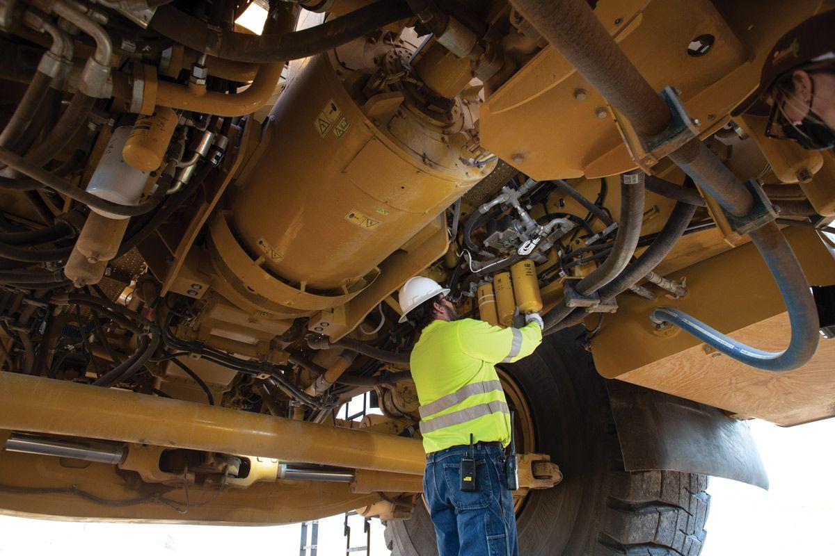 798 AC electric drive truck maintenance
